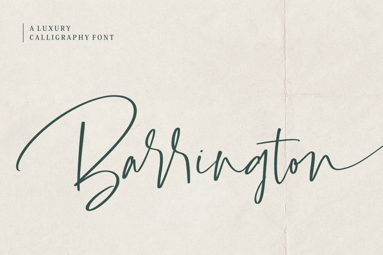 Barrington Signature Font example image 1
