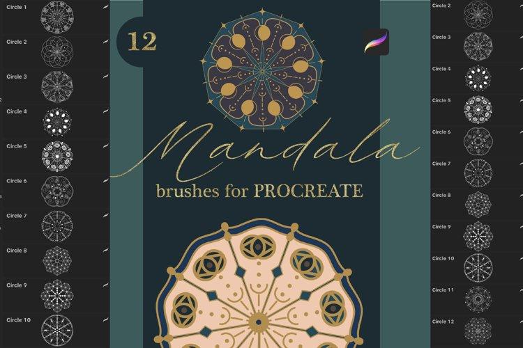 Mandala brushes for Procreate. 12 Stamps example image 1