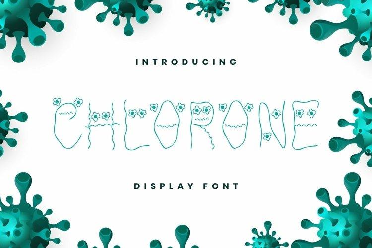 Web Font Chlorone Font example image 1
