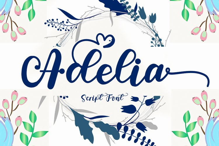 Adelia - A Modern Script Font example image 1