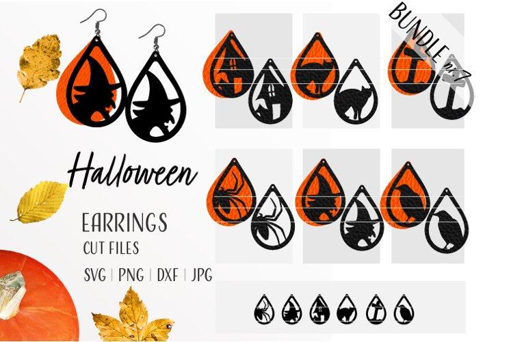Halloween Earrings Bundle Svg / Leather / Faux / Wood / Cut