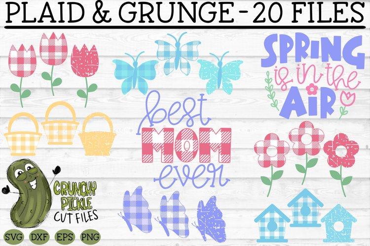 Plaid & Grunge Spring / Easter / Mother SVG Cut File Bundle