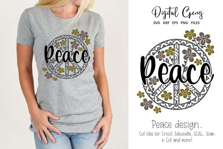 Peace design SVG / DXF / EPS / PNG files