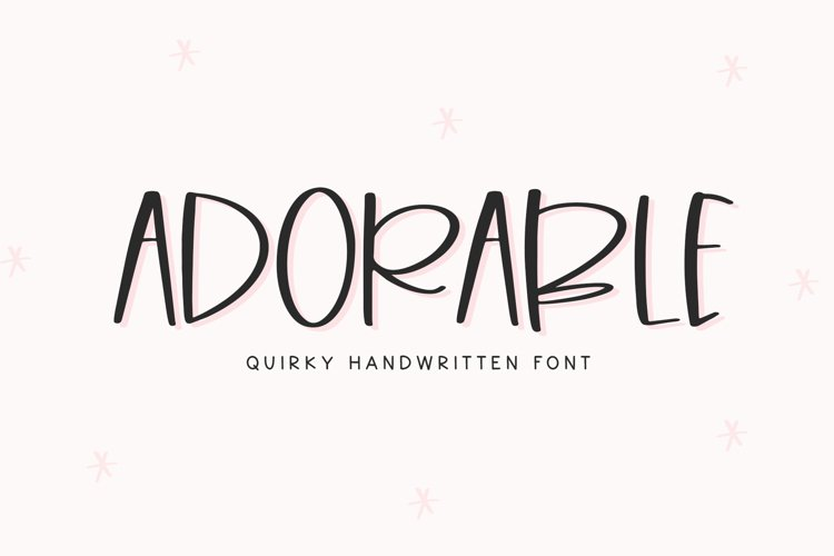 Adorable - A Quirky Handwritten Font example image 1
