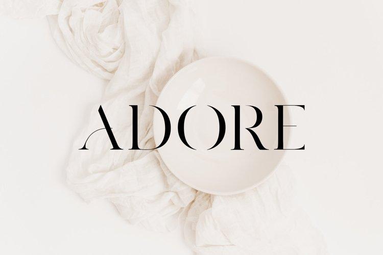 Adore Modern Serif Font example image 1