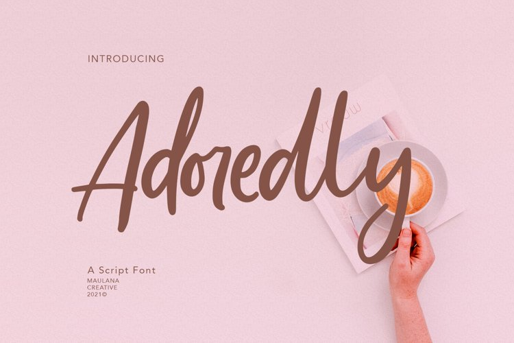 Adoredly Script Brush Font example image 1