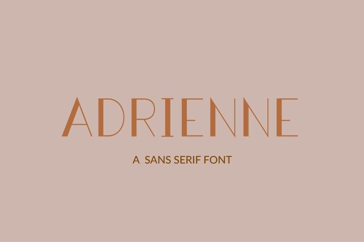 Adrienne - a sans serif font example image 1