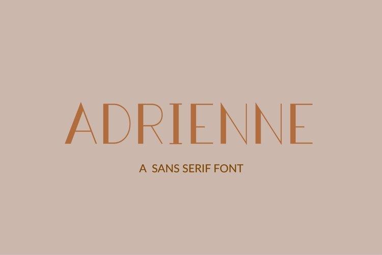 Web Font Adrienne - a sans serif font example image 1