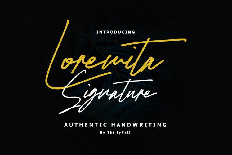 Loremita Signature