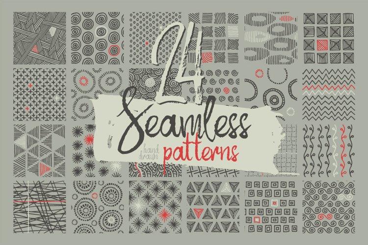 24 Hand Drawn Patterns