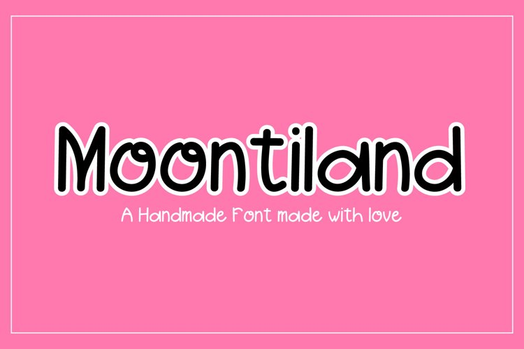 Moontiland - a fun and quirky font example image 1