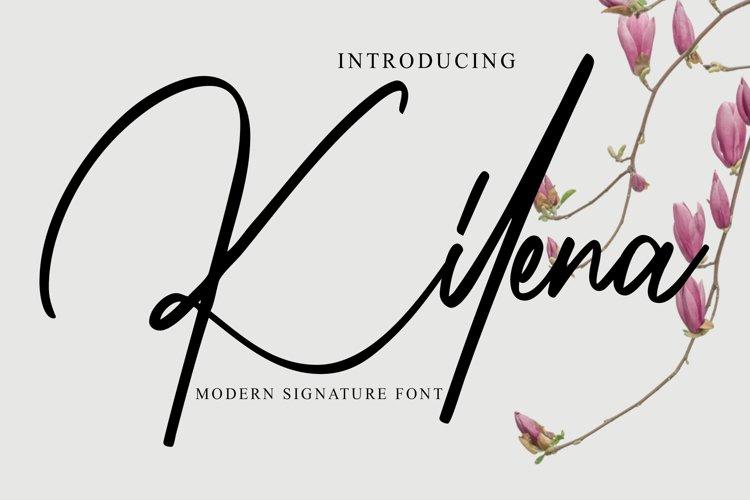 Kilena - Modern Signature Font example image 1