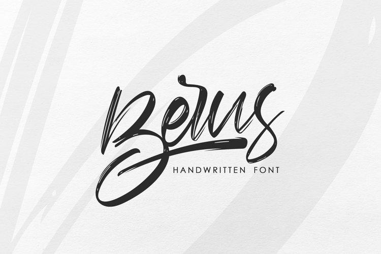 Berus. Handwritten textured brush Font. example image 1
