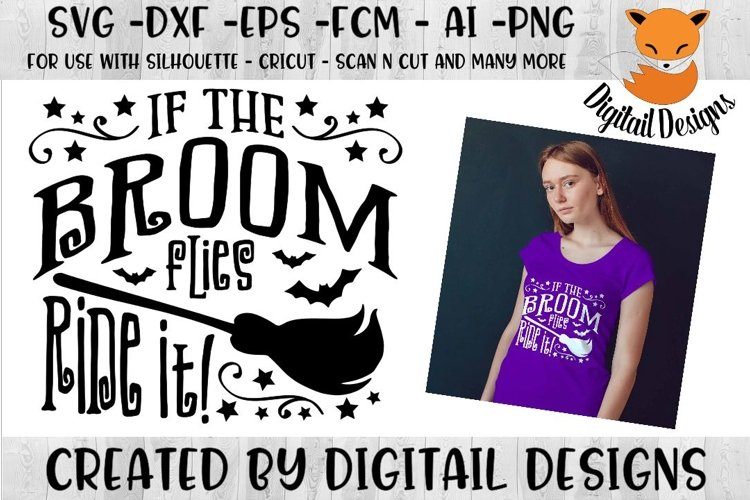 If the Broom flies SVG for Silhouette, Cricut, Scan N Cut example image 1