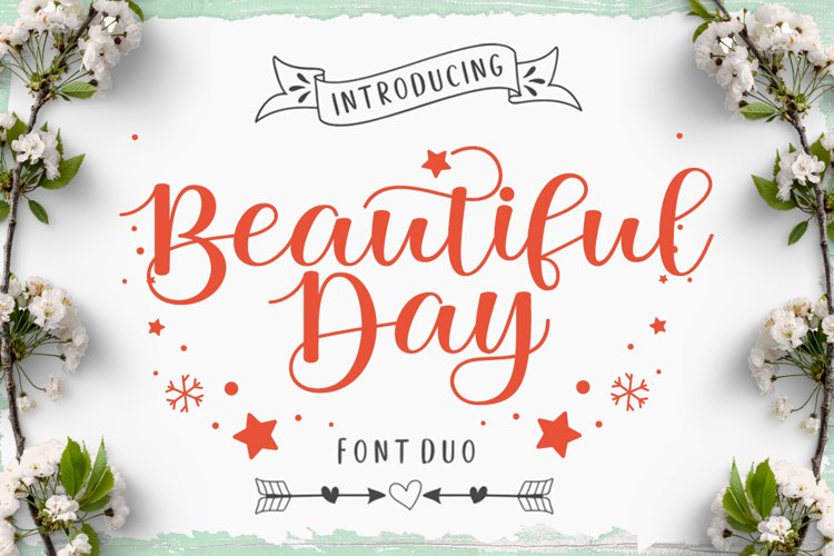 Beautiful Day Script Font DUO example image 1