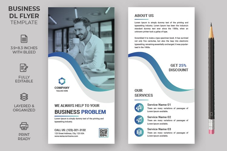 Rack Card Corporate DL Flyer Template example image 1