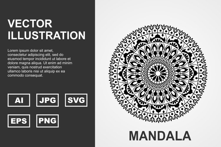 Vector Mandala Illustration Design example image 1