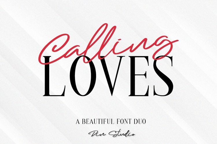 Calling Loves - Font Duo example image 1