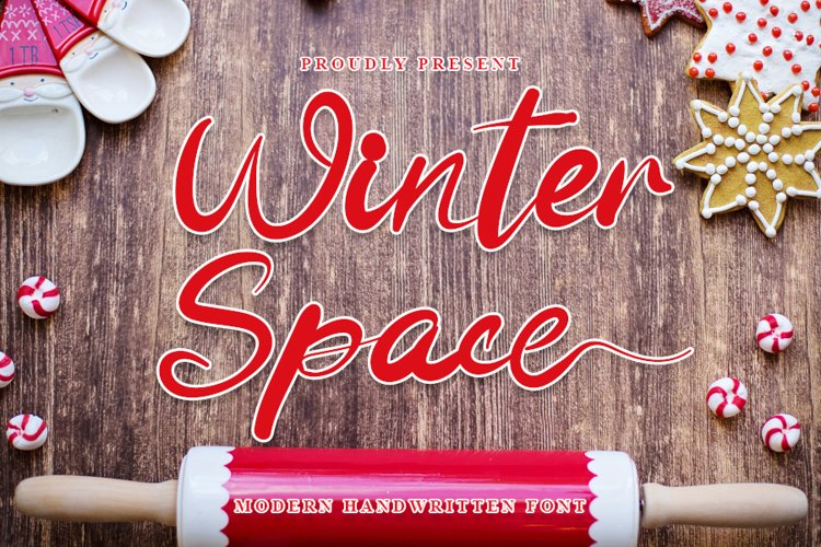 Winter Space - Beautiful Christmas Font example image 1