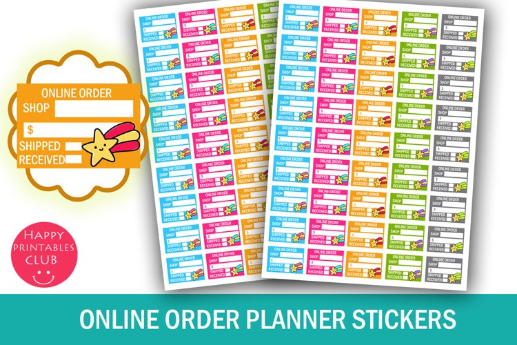 Online Order Planner Stickers- Online Order Tracker Stickers example image 1