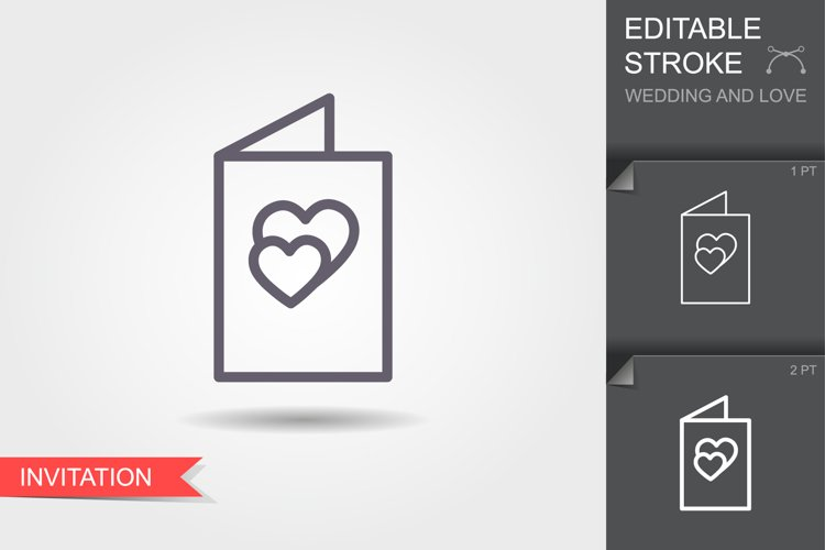 Wedding invitation. Line icon with editable stroke. example image 1