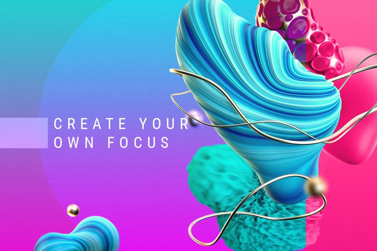 Focus / Set of graphic elements example image 1