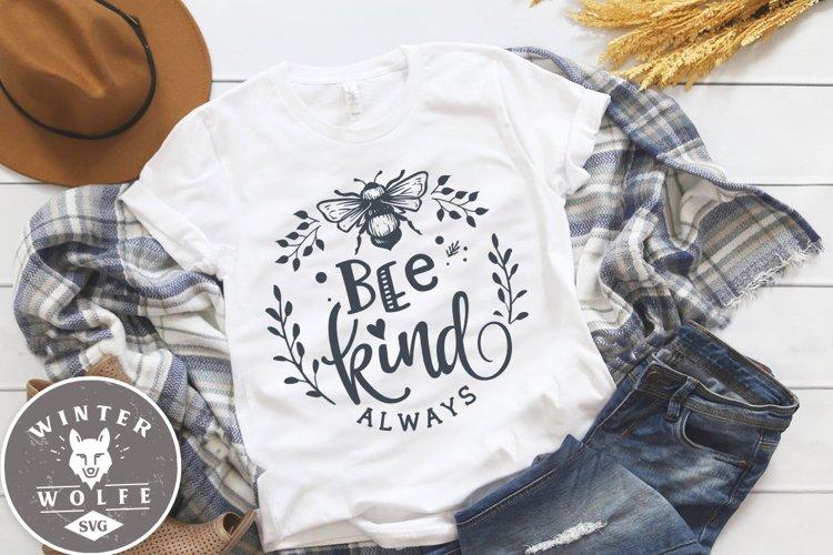Bee kind always SVG DXF PNG EPS