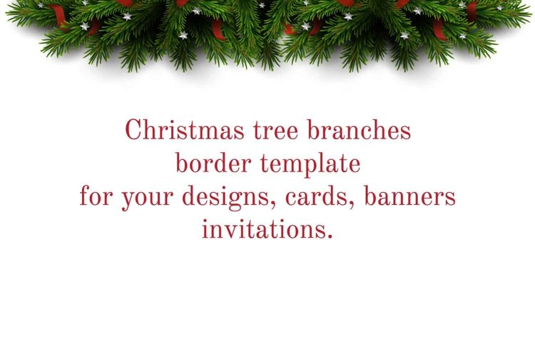 Christmas tree branches border template example image 1