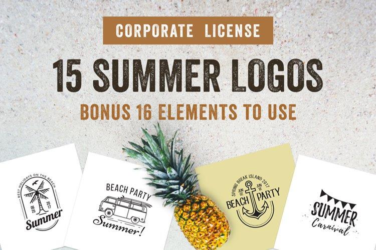 15 Summer Logo Labels & Badges Bundle example image 1