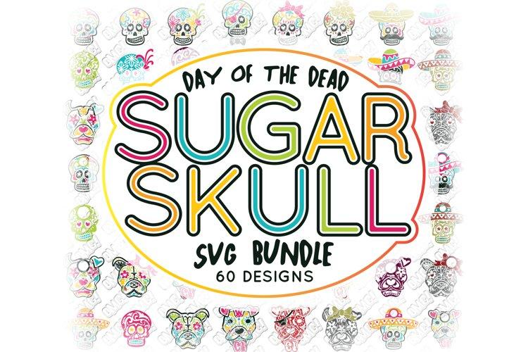 Sugar Skull SVG Bundle Monogram in SVG, DXF, PNG, EPS, JPEG