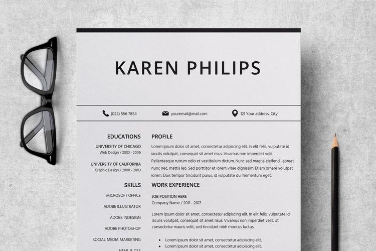 Resume   CV Template Cover Letter - Karen Philips