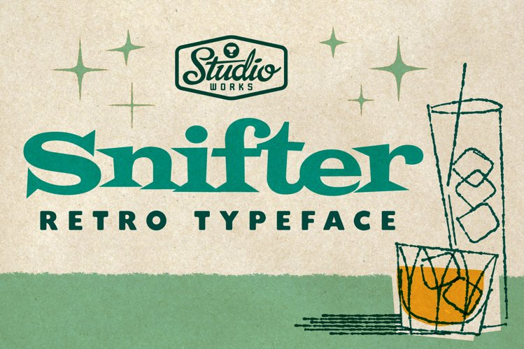 Snifter | Retro Party Typeface! example image 1