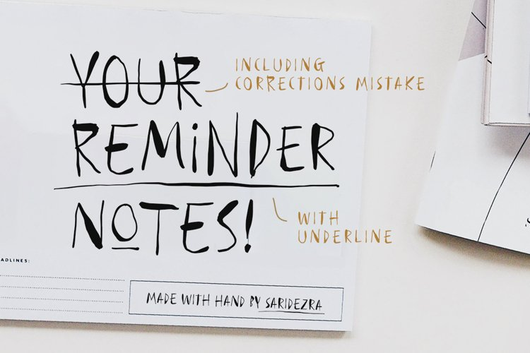 Reminder Notes - Handwritten Font example image 1
