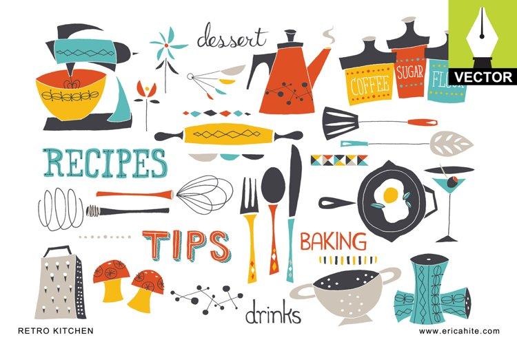 Retro Kitchen Vector Art EPS
