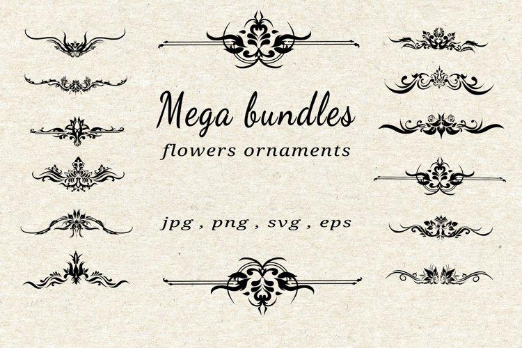 bundles vector flowers ornaments