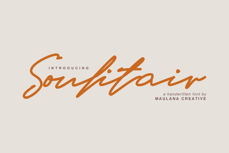 Soulitair Signature Font example image 1