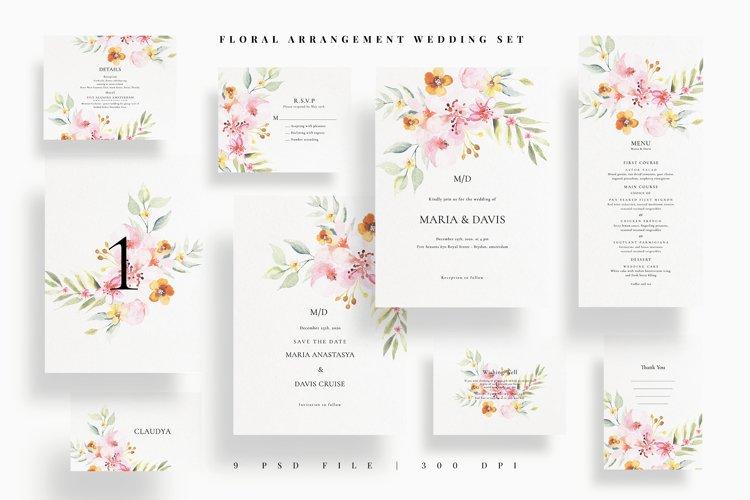 Floral Arrangement Wedding Set