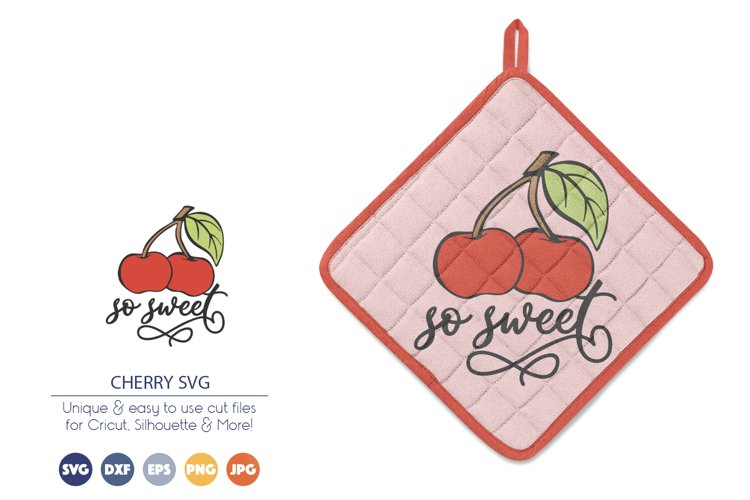 Cherry SVG   So Sweet SVG example image 1