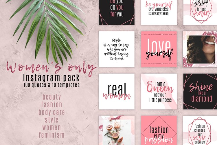 Womens only. Instagram pack.