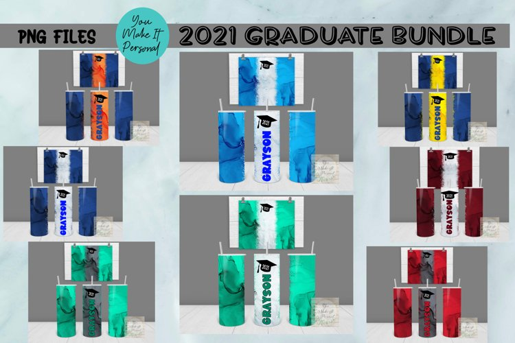 Alcohol Ink Tumbler Design for 2021 Graduates!
