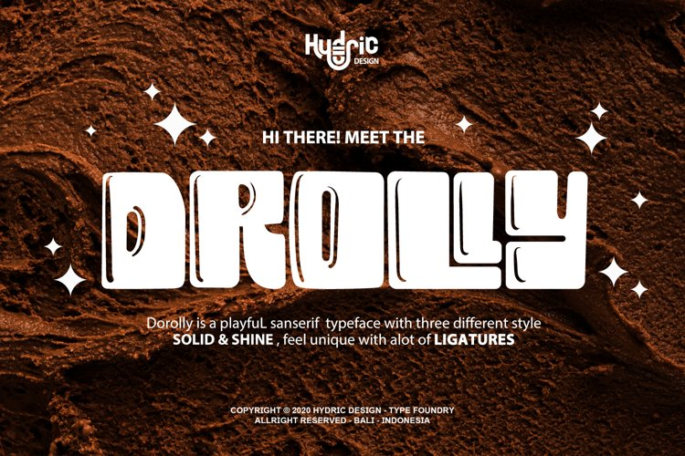 Drolly - Sweet & Playful typeface