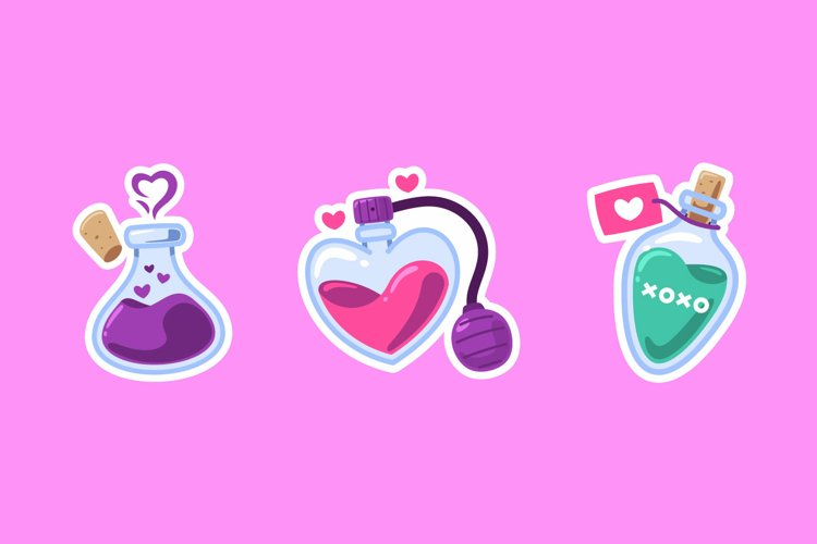Potion Sticker illustrations