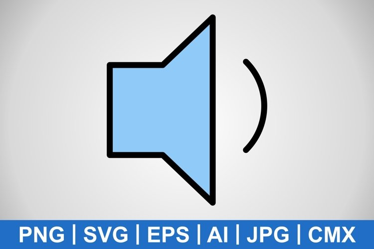 Vector Low Volume Icon example image 1