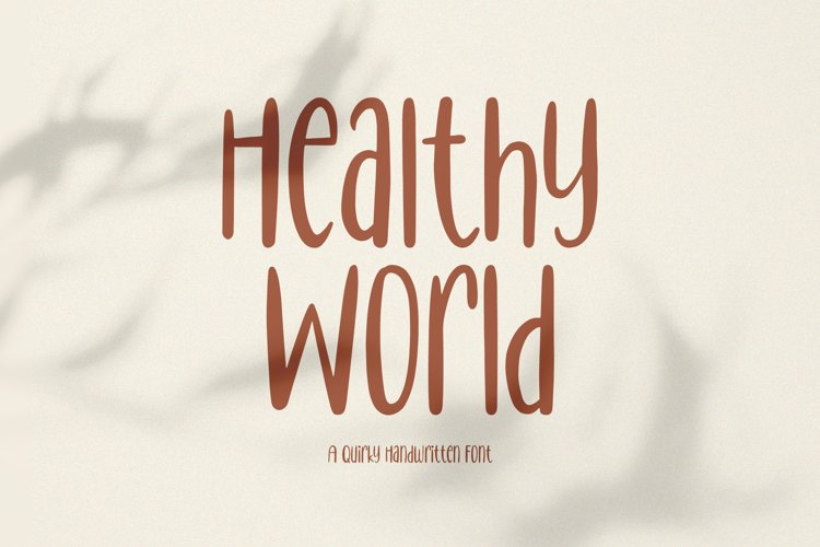 Healthy World // Handwritten Font example image 1