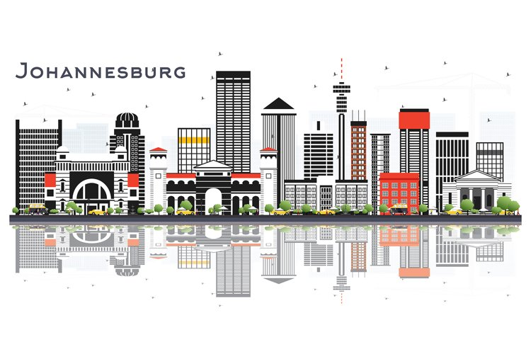 Johannesburg South Africa City Skyline example image 1