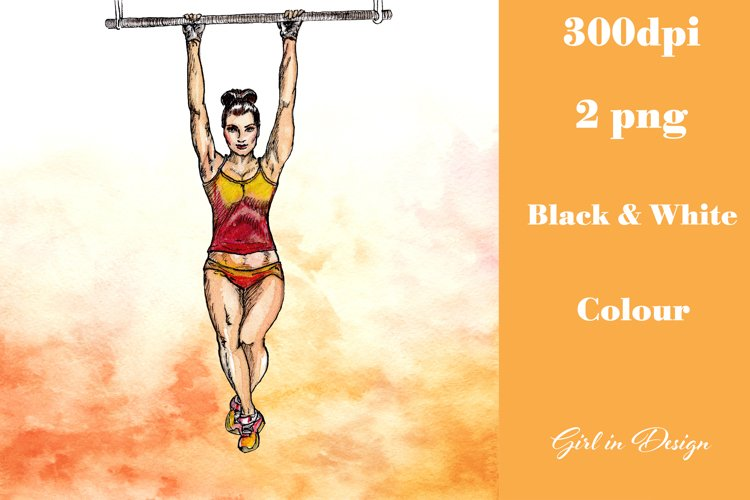 Sport Hanging Girl Clipart example image 1