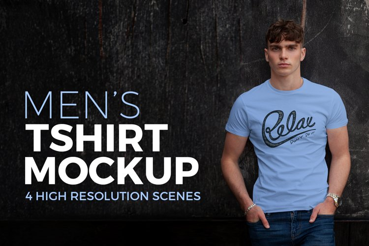 Men's T-shirt Mockup example image 1