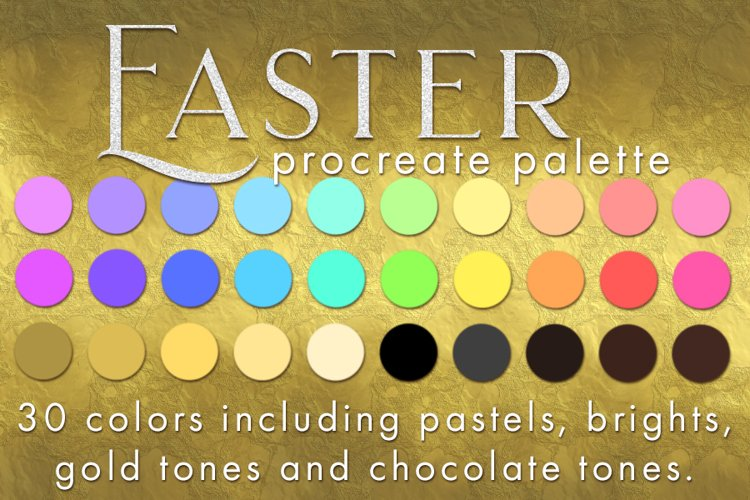 Procreate Easter Palette - 30 swatches for the holiday
