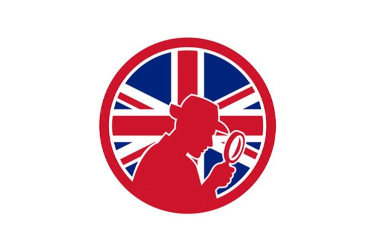 British Private Investigator Union Jack Flag Icon example image 1