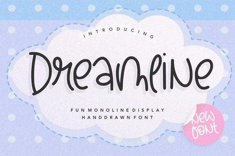 Dreamline Fun Monoline Display Handdrawn Font example image 1